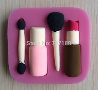 Wholesale Cake Makeup Mould - Beautiful and Fashion Makeup Tools Design Fondant Cake Molds Tools Soap Chocolate Mould Bakeware -C370