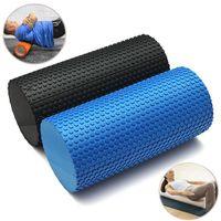 Wholesale Yoga Foam Rollers - 30x14.5cm EVA Yoga Pilates Fitness Foam Roller Massage Trigger Point Blue Black order<$15 no tracking
