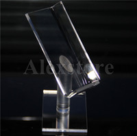 Wholesale acrylic ego atomizer display stand for sale - Group buy Acrylic display box shelf stands clear cases ego holder rack for RDA RTA atomizer kit ABS Surpass Nookie Castigador box mod ZNA DNA Ecig DHL