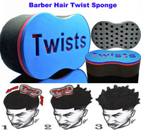 Wholesale New Magic Sponge - New Magic Barber Hair Brush Twist Sponge For Dread Locs Twist Coil Afro Curl Hair Sponges Free Shipping