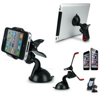 Wholesale Apple Iphone Dropship - 2016 Dropship! Newest Universal Car Windshield Mount Stand phone tablet for pad Holder For iPhone 6 6 Plus for Samsung GPS
