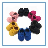 Wholesale Leather Shoes Wholesalers China - 2017 suede leather baby moccasin soft sole baby shoes china wholesale kids shoes