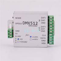 Wholesale Dmx512 Control Dmx - Wholesale-DMX512 Decoder DMX Controller For WS2812B WS2811 5V,WS2811 12V,WS2801 5V,WS2801 12V LED Strip Modules control 2048 pixels