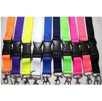 Wholesale Key Ring Strings - Wholesale 200pcs-keychian Lanyard Necklace String Neck Chain Sling w  Clip Ring for key, pendent, keychain, Ego Series