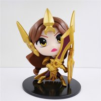 Leona Lol Figuras De Acción Baratos-170613 QYUCHANY Nendoroid Venta al por mayor de PVC 10cm Gzltf venta caliente Q versión League of Legends LOL Aurora Leona figura de acción de pvc