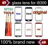 Wholesale Screen Glass S3 Black - For i9300 Glass Digitizer Cover Replacement Screen Glass Lens for Samsung Galaxy S3 I9300 Black and White + tools
