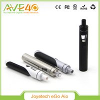 Wholesale Ego Led Lights - Original Joyetech EGo AIO Quick Start Kit All-in-one with With 1500mAh Battery and 2ml e-Juice Capacity e Liquid illumination LED Light