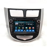 Wholesale Dvd For Hyundai Verna - Double din car dvd audio stereo sat nav radio receiver built in gps wifi radio bluetooth 3g fit for Hyundai Verna Solaris