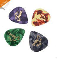 Wholesale Guitar Picks Mix - 100pcs lot Mix color Celluloid Guitar Pick with JESUS Romans 10:13 Printing 0.71mm
