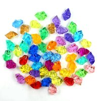 250pcs / Pack 25 * 18 MM Wedding Favor Party Акриловая кристаллическая скала Ice Confetti Table Scatter Vase Filler Beads Table Decorating 19 Colors D155L