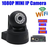 ONVIF 2MP sécurité IP CAMERA hd 1080 p wifi Pan inclinaison PT Mini Dôme sans fil Accueil infrarouge IR Megapixel caméras SD / Micro carte Slot Audio Webcam