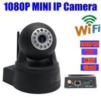 Wholesale Mini Ip Pan Tilt Camera - ONVIF 2MP security IP CAMERA hd 1080p wifi Pan tilt PT Mini Dome wireless Home infrared IR Megapixel cameras SD Micro card Slot Audio Webcam