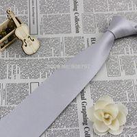Wholesale Gray Necktie - Wholesale-Brand new Classic Men's Necktie Wedding Groom Party Neckties 100% Silk Tie Handmade Silver Gray Ties D.berite Wholesale