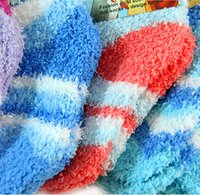 Wholesale Wholesale Gift Merchandise - Wholesale-Creative home living merchandise cute candy-colored children's warm winter socks towel gift gift