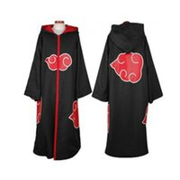 Wholesale Uchiha Hoodie - Anime Naruto Akatsuki Cosplay Costume The Eagle Group Team Taka Hawk Hoodie Cloak Cape Sasuke Uchiha Hooded Robe Dust Coat