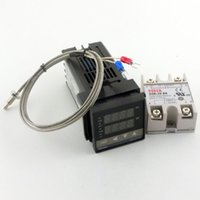Wholesale Temperature Dual - Dual Digital RKC PID Temperature Controller C100FK02-V*AN 110-240V Solid State Relay SSR25DA with thermocouple K, SSR Output