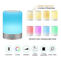Portable LED sans fil Bluetooth haut-parleur tactile Dimmable à côté de la lampe avec RGB couleur mains libres Night Light FM radio minuterie
