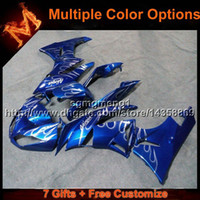 ingrosso zx6r plastica blu-23colors + 8Gifts BLUE ZX6R 2009 2010 2011 2012 motocicletta per Kawasaki Ninja zx6r ZX 6R 09 10 11 12 ABS carenatura in plastica