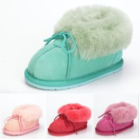 Scarpe da bambino Inverno Stivali da neve caldi per bimbi Fashion Girls Mix Color Baby First Walkers Antiscivolo