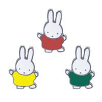 ingrosso perni gialli-Bunny Duro Smalto Pins Badge Kawaii Accessori Carino Rosso Verde Giallo Coniglio Spilla Pin Spilla Bunny per Life Planner Lovers
