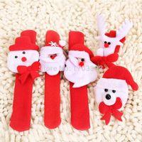 Wholesale Play Wristbands - 100pcs lot Various Christmas Series Shape Wristband LED Glow Bracelet Children Toys X'Mas Gift Role Play Party Adornment #GO-54