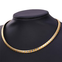 Men Jewelry Two Tone 18K Gold Plated / Stainless Steel Chain Necklace Acessórios de moda Party Gift MGC