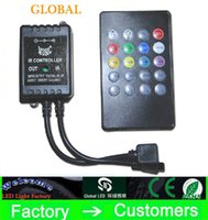 Wholesale Infrared Key - Hot DC12V RGB LED Music IR Controller 20 key infrared music LED ir controller the advanced control unit for RGB 3528 5050 led strip
