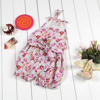 Wholesale Toddler Beach Suits - baby rompers jumpsuit ,vintage rompers ,infant jumpsuit ,summer beach girls sun suit ,floral baby onesies, toddler