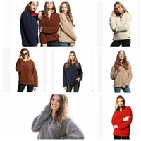 Wholesale 18 month girl sweater - WOMEN Casual Sherpa Fleece Sweater Tops Outwear Jumper Women Casual Fleece Hooded Hip Hop Sweatshirt LJJK829