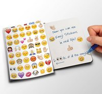 Wholesale Iphone Sticker Designs - New Party Decoration Art Removable Sticker Decals Kids Blogger Emoji Sticker Pack-Instagram,Facebook,Twitter iPhone Emoji sticker