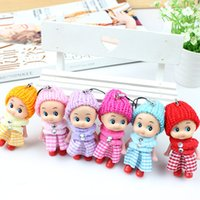 Wholesale interactive baby dolls - Wholesale- 2017 NEW Kids Toys Soft Interactive Baby Dolls Toy Mini Doll For girls and boys 6pcs set