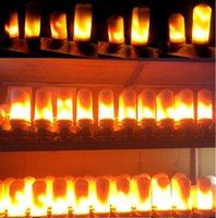 Wholesale Party Fire - E27 Dynamic LED Flame Lights 3 Modes Effect Fire Light Bulbs Christmas Lights Atmosphere Lighting Fire Bulbs for Party Holiday