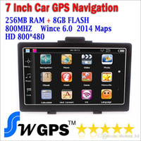 Wholesale Mercedes Gps - Free shipping RAM 256M ROM 8G MTK2531 car GPS navigator 800MHz with FM wince 6 offer new maps support wholesale
