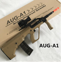 Wholesale Electric Toy Submachine Guns - 2017 new gun toy for AUG Submachine gun rifle electric water bullet can be shoot
