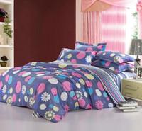 Wholesale Cheap Blue Quilt - Wholesale-pink grey blue polka dot prints cotton bedding discount bedlinen cheap bed set queen full quilt duvet covers sets for comforter