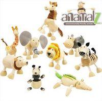 Wholesale Wood Toys Baby Handmade - Baby Moveable Maple Wooden Animals Toys Australia Wood Handmade Farm 24 Animals Toys Baby Educational Wooden Toys