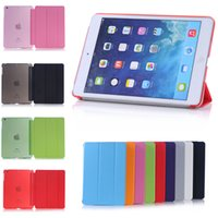 High Quality Fold Magnetic Case Smart Cover + Matte Back For iPad Air 2 3 4 5 6 Mini iPad 1 iPad 2 pro (9.7