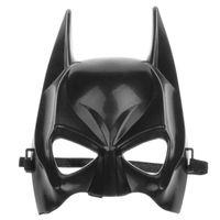 batman mardi gras al por mayor-La mitad de la cara de Batman Máscara negro película clásica figura de dibujos animados de Halloween veneciano Mardi Gras máscaras del partido suministros para bailes de mascarada niños juguetes