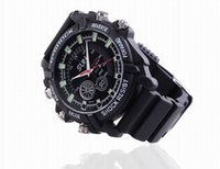 Wholesale Spy Camera Video Watches - Full HD 1080p 8GB night vision Waterproof Spy Watch Camera DV W1000 12MP Hidden camera Watch Video recorder