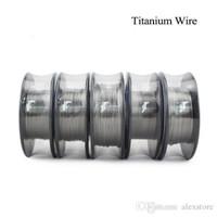 Wholesale titanium coil resistance for sale - Group buy Vapor Tech Titanium Heating Wire Resistance Feet AWG Gauge Coil For Temp Control TC Vape Mod PK Ni200 DHL