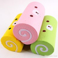 Wholesale Rolling Cakes - Cute Kawaii Squishy Slow Rising Scented Swiss Cake Roll Soft Jumbo Squeeze Scented Bread Squishies With Package Funny Kids Toys