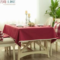 Wholesale Style Bugaboo - Waterproof dirt! Original zakka Japanese style table cloth tablecloths coffee table Bugaboo boob Arts # 15 Cherry Red