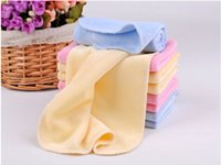 Wholesale Baby Washcloths Terry - 25cm*25cm Baby Face Towels Washcloths 2015 High Quality Soft Terry Baby Washcloths Velvet Towels Baby Face Cloths Pink Yellow Blue