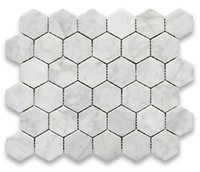 Wholesale Beauty Mosaic - Bianco carrarra white marble tile hexagon mosaic tile Italy carrarra white marble tiles long last beauty fashion