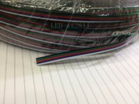 Wholesale Blue Black Red Green Connector - 10 meters 5Pin Extension Electric Wire Cable Blue White Red Green Black Led Connector For RGBW 5050 3528 LED Stirp Light 22 AWG