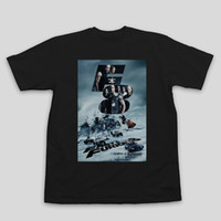 Compra Poster Divertente-T-shirt manica corta da uomo Fashion fastfurious8 Fashion O-Collo Fast Furious 8 poster summer T-shirt divertente da uomo