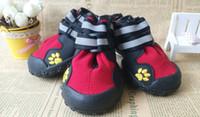 Wholesale Rain Chains - Outdoor Hiking Non-slip Durable Large Dog Shoes Pet Rain Boots Waterproof Pet Shoes Chow Chow Golen Retriver Boots (4pcs set) DH074