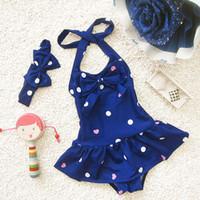 Wholesale Swimwear For Little Girls - Wholesale- New 2016 Summer Girls One-Piece Swimsuit For Little Girls Swimwear SW321-CGR1