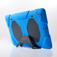 Wholesale Ipad Air Water Proof Case - for iPad2 3 4 5 6cases Defender Military Spider Stand Water dirt shock Proof Case Cover iPad Air iPad Mini Samsung Tab 3