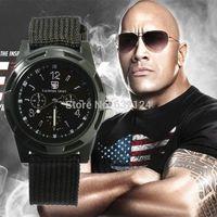 тканевые наручные часы оптовых-2015 Мужчины Часы Новый Военный Кварцевые Спортивные Часы Холст Ремешок Ткань Мода Солдат Ourdoor Работает Наручные Часы Горячие Продажа